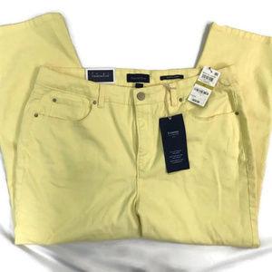 Charter Club Lemon Tart Yellow Capri Pants NWT
